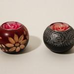 アジアン・キャンドル置き&バラ型キャンドル